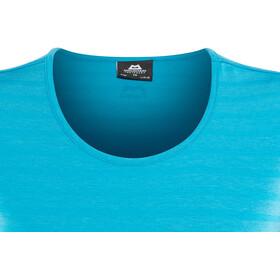 Mountain Equipment Groundup T-shirt Dames, digital blue stripe